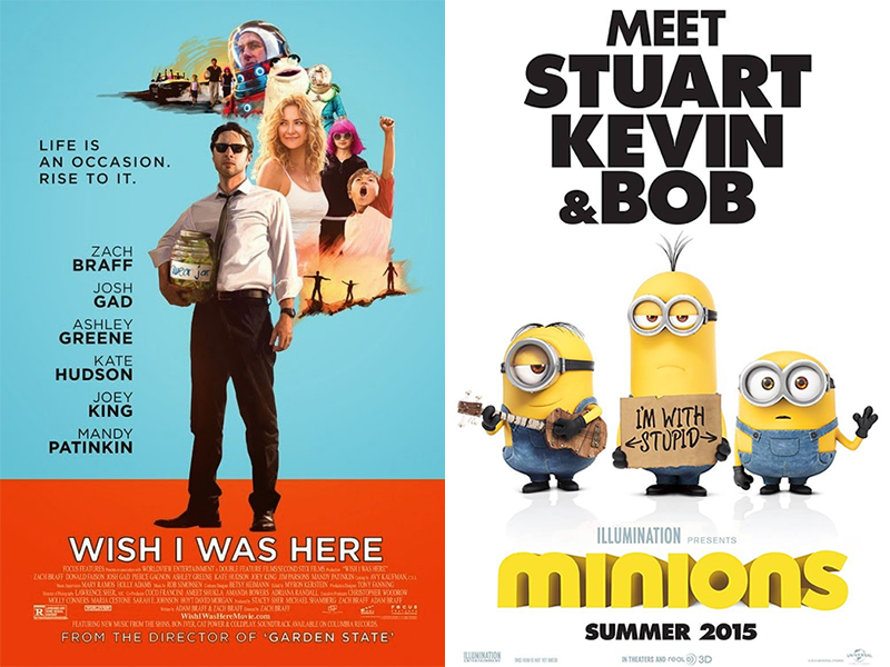 Movie Review: Wish I Was Here, Minions