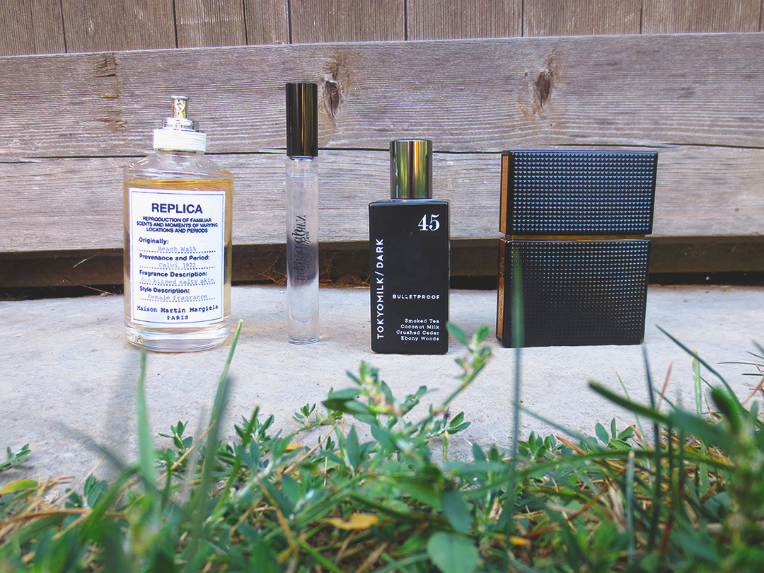 Summer / Autumn Fragrances: Beach Walk, Beach, Bulletproof, Nirvana Black