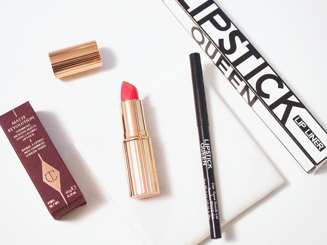 November Haul: Charlotte Tilbury Matte Revolution Lipstick in 1975 Red, Lipstick Queen Invisible Lip Liner