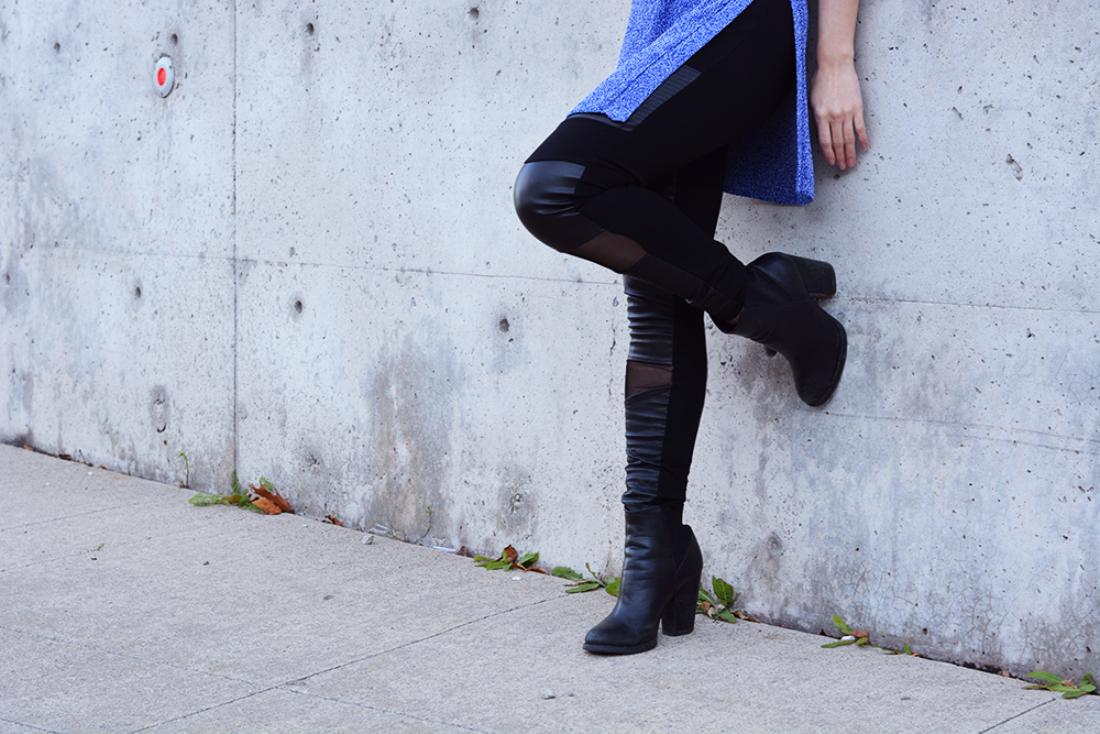 Aritzia Wilfred Rubel Sweater, Dynamite High Rise Faux Leather Legging