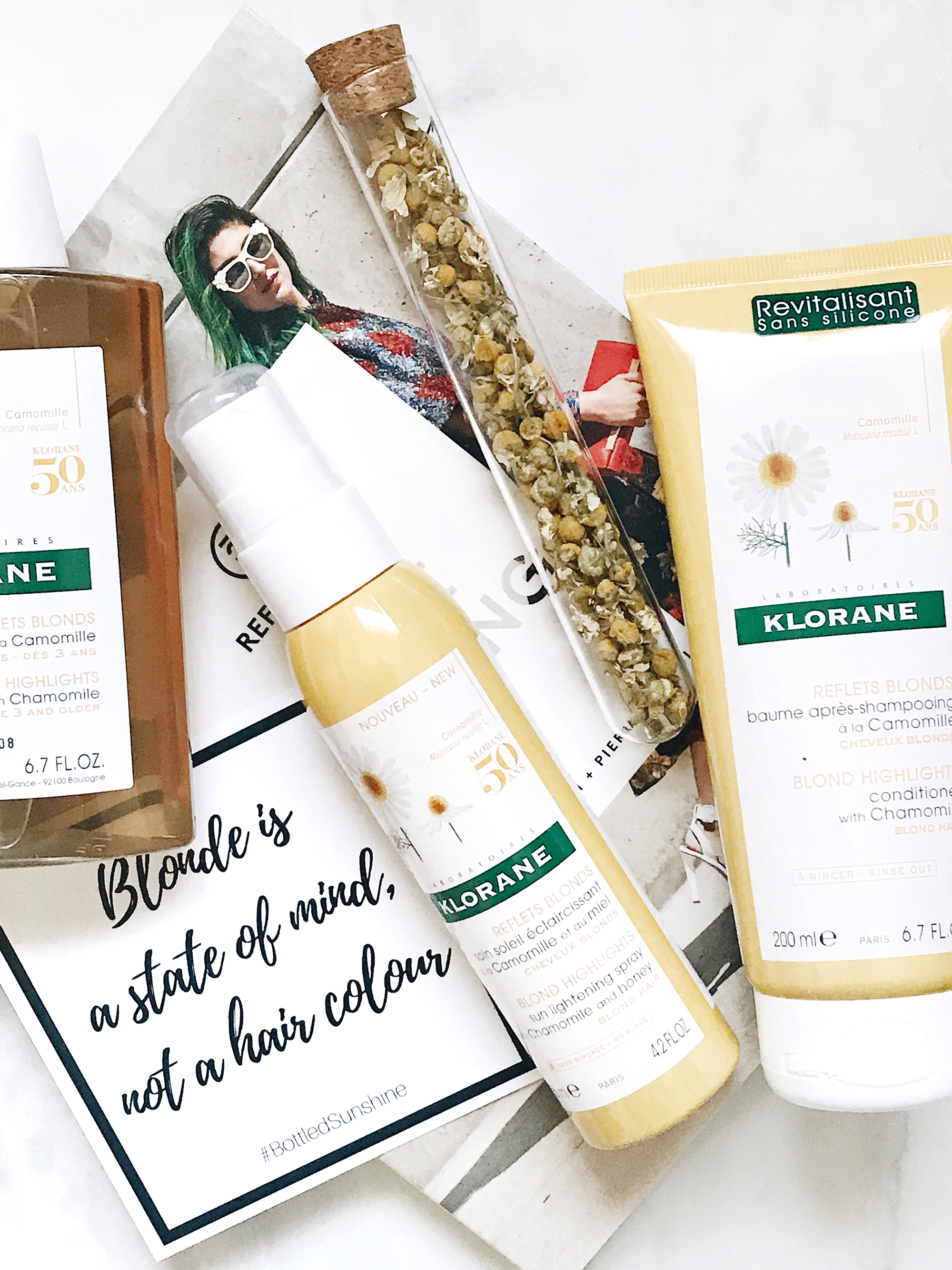 KLORANE chamomile collection for blonde hair