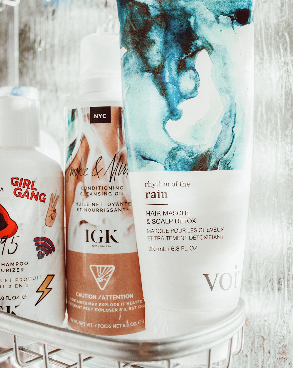 hair care favourites in shower