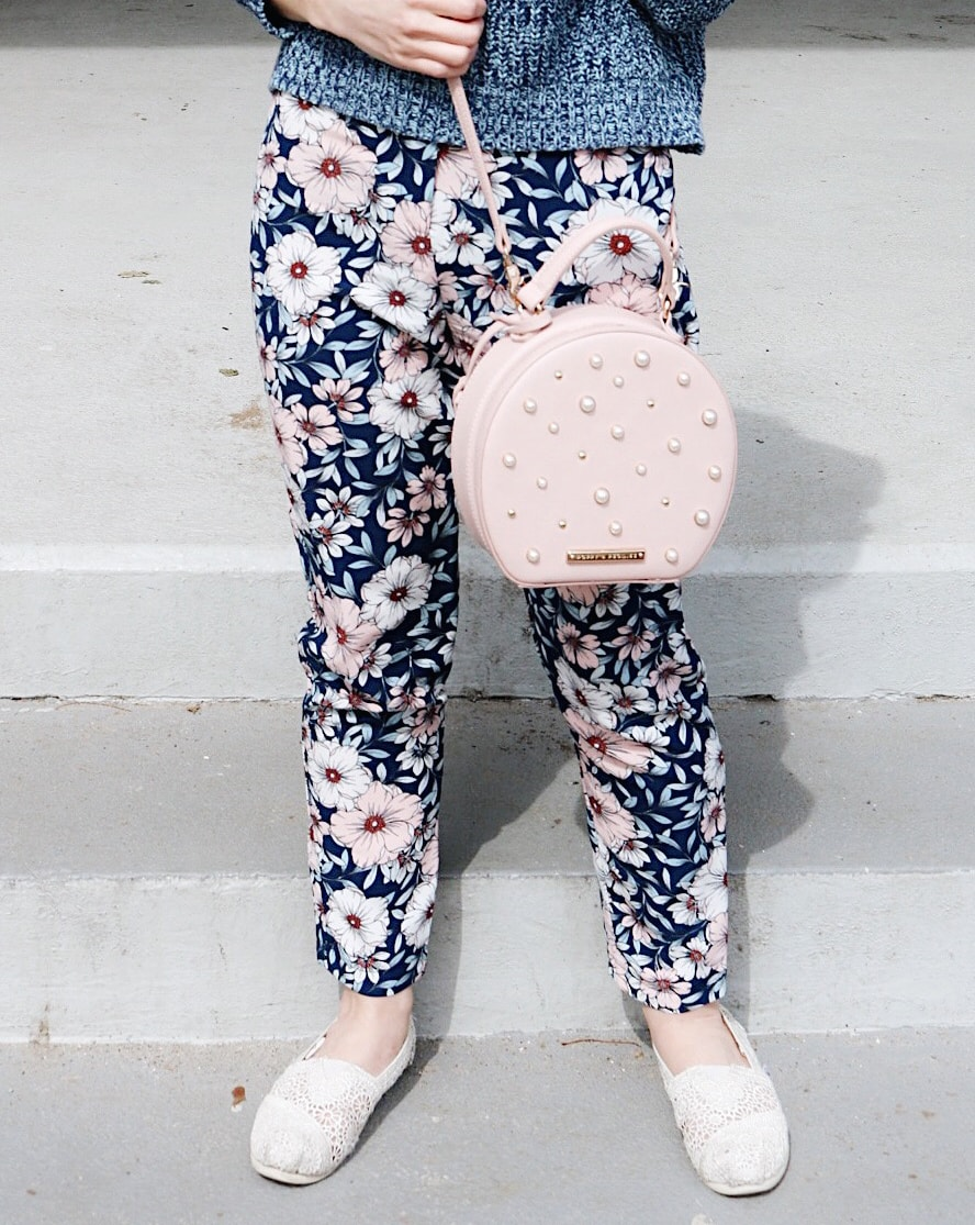 poppy & peonies darling blush bag