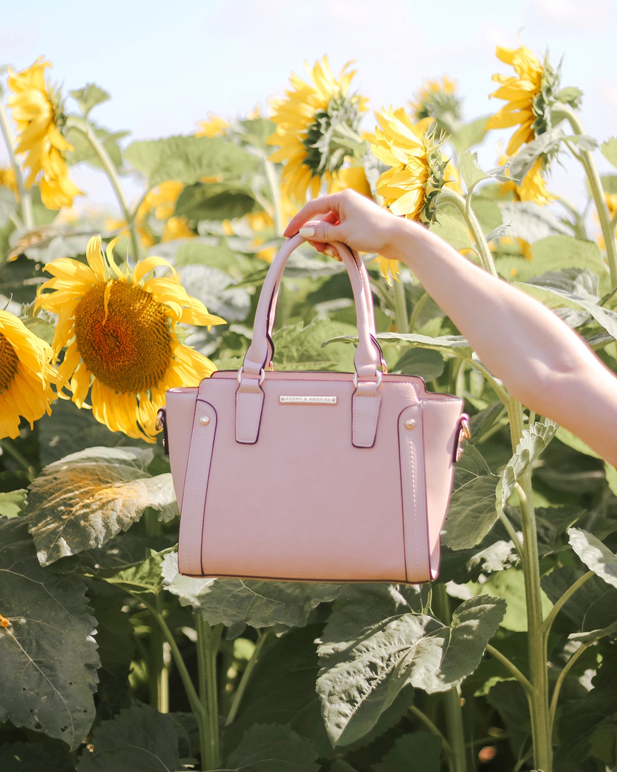 Poppy & Peonies MIDI bag Blush
