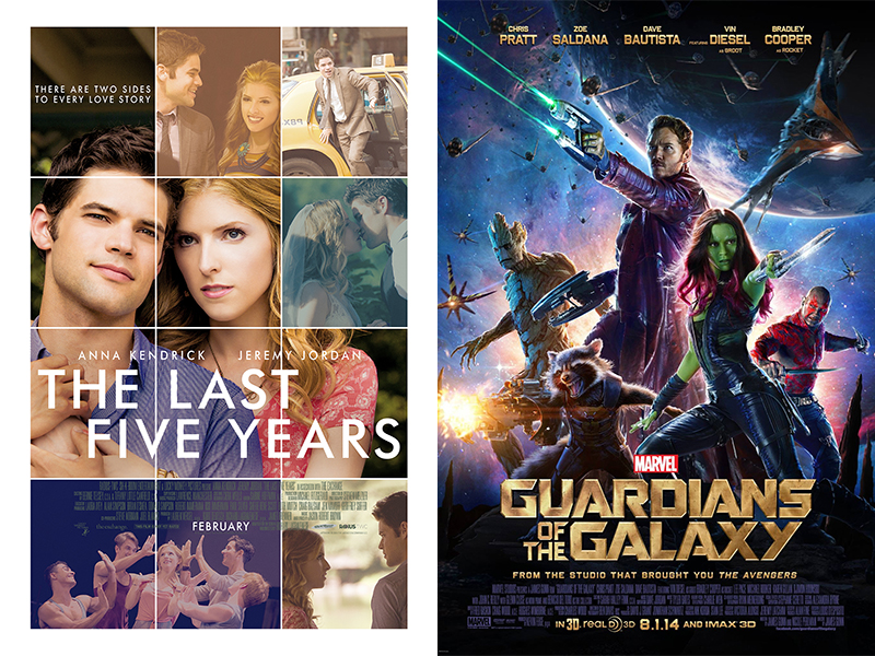 Movie Reviews: The Last Five Years, Guardians of the Galaxy
