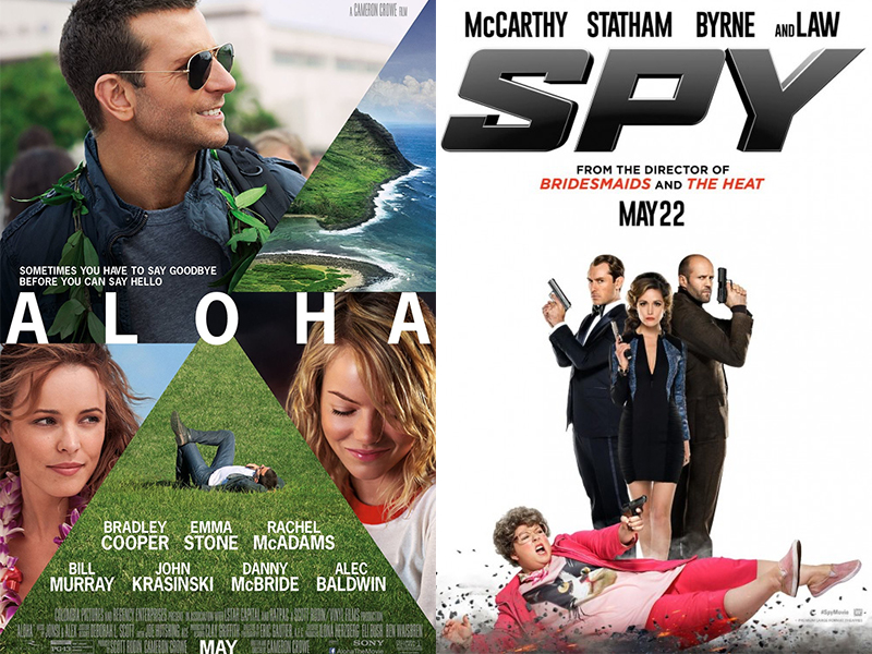 Movie Reviews: Aloha, Spy