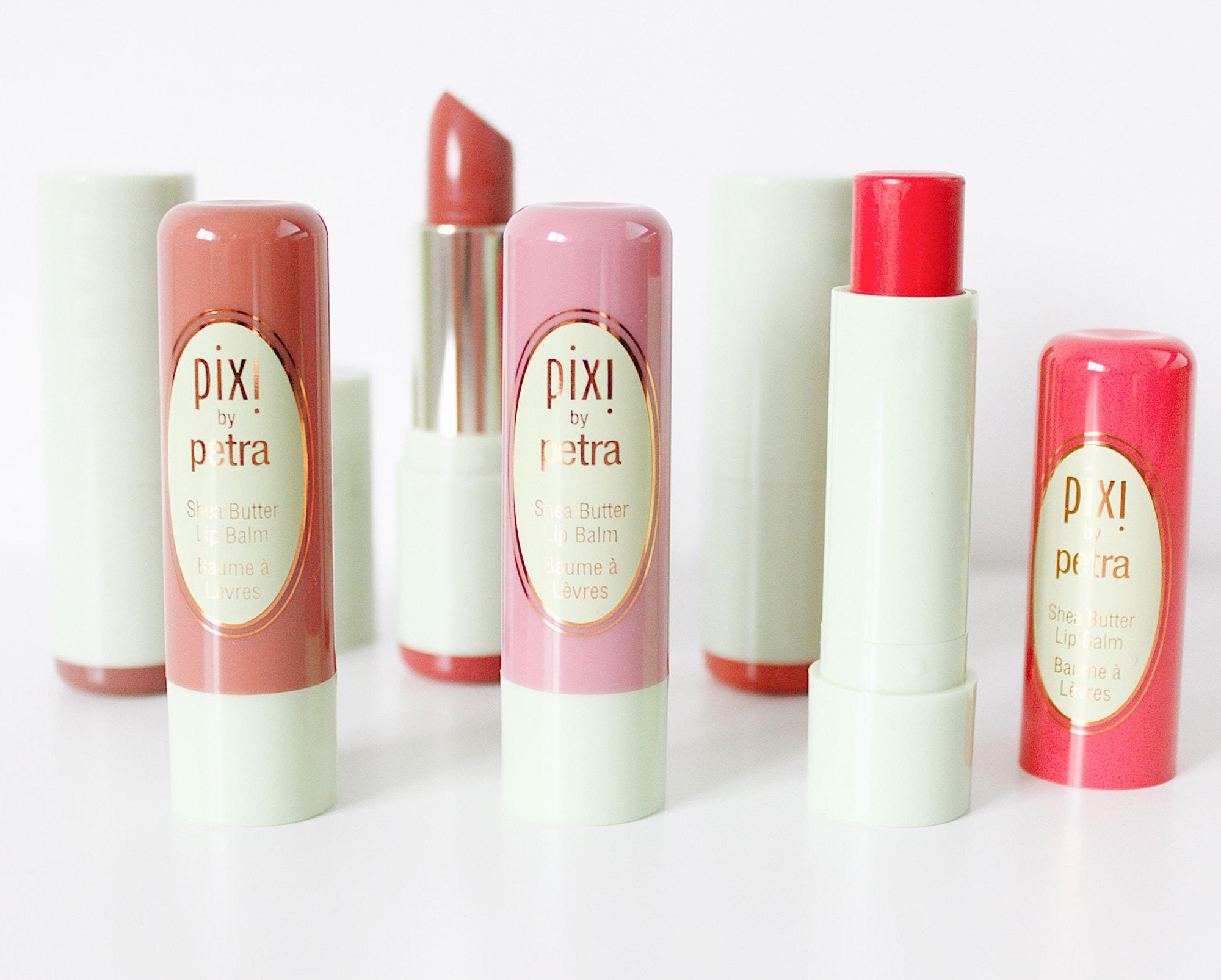 pixi beauty shea lip balm mattelustre lipstick