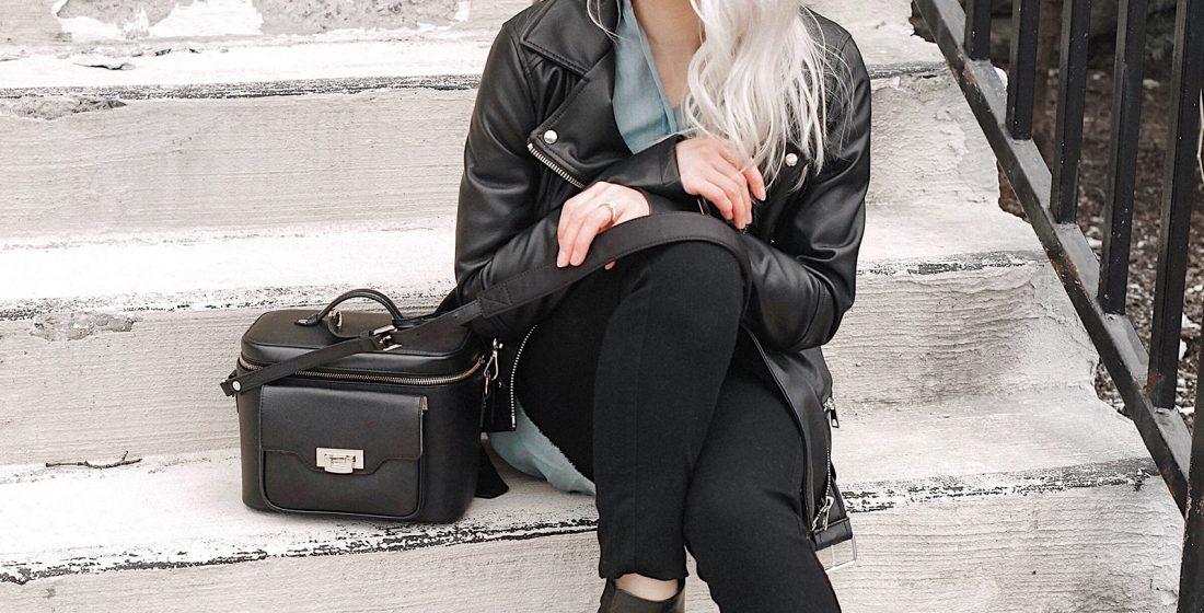 Camera and Makeup Bag