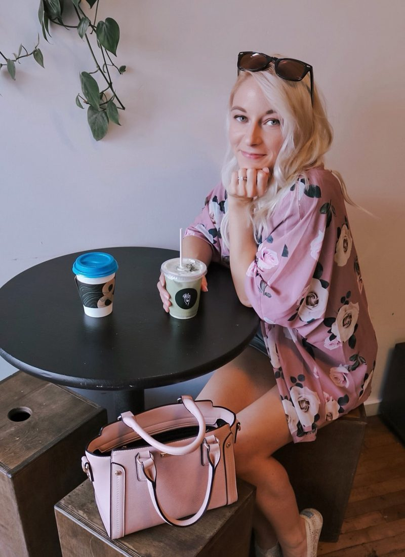 Poppy & Peonies MIDI bag Blush girlboss