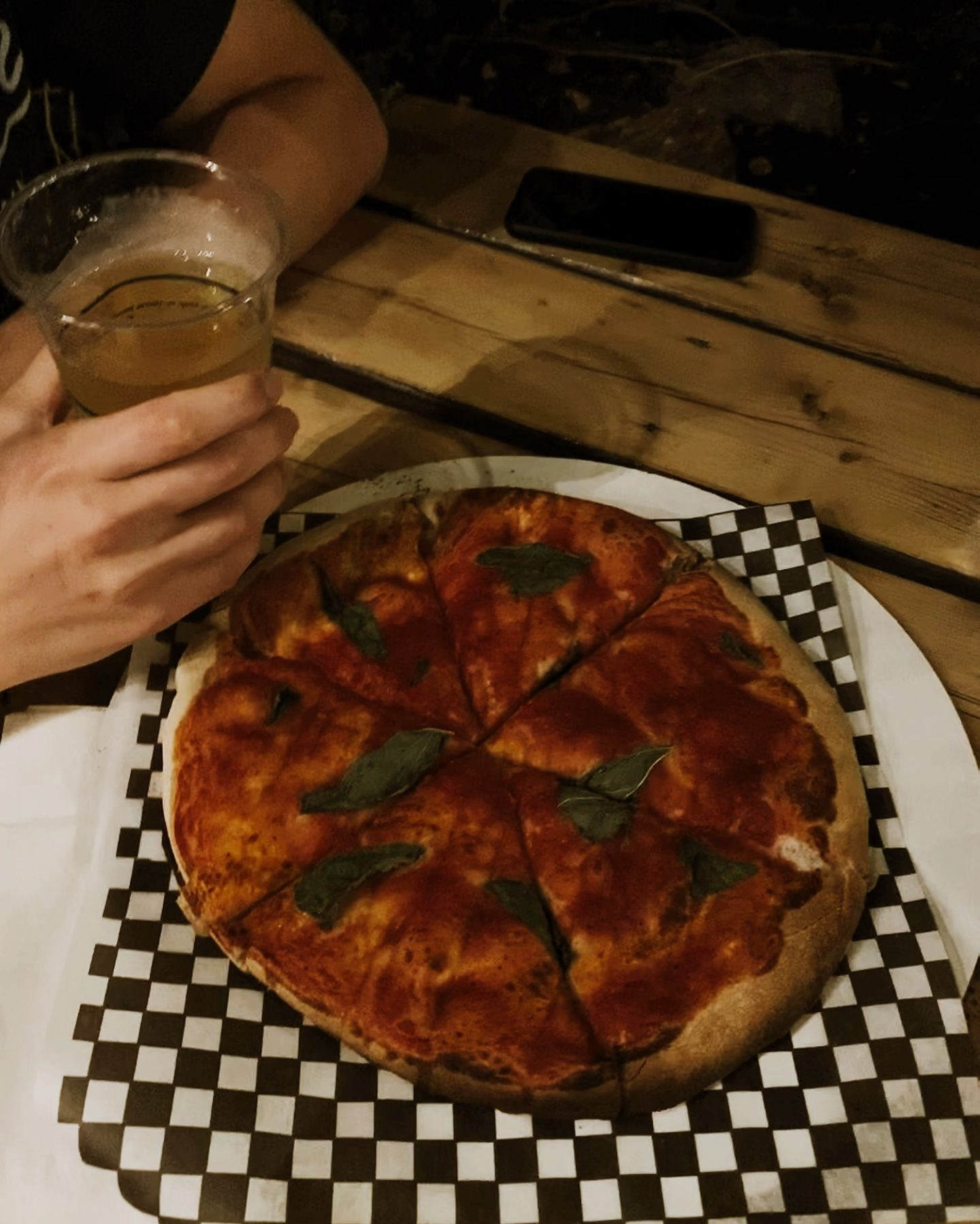 Pizza at 555 Brewing Co in Picton, Prince Edward County