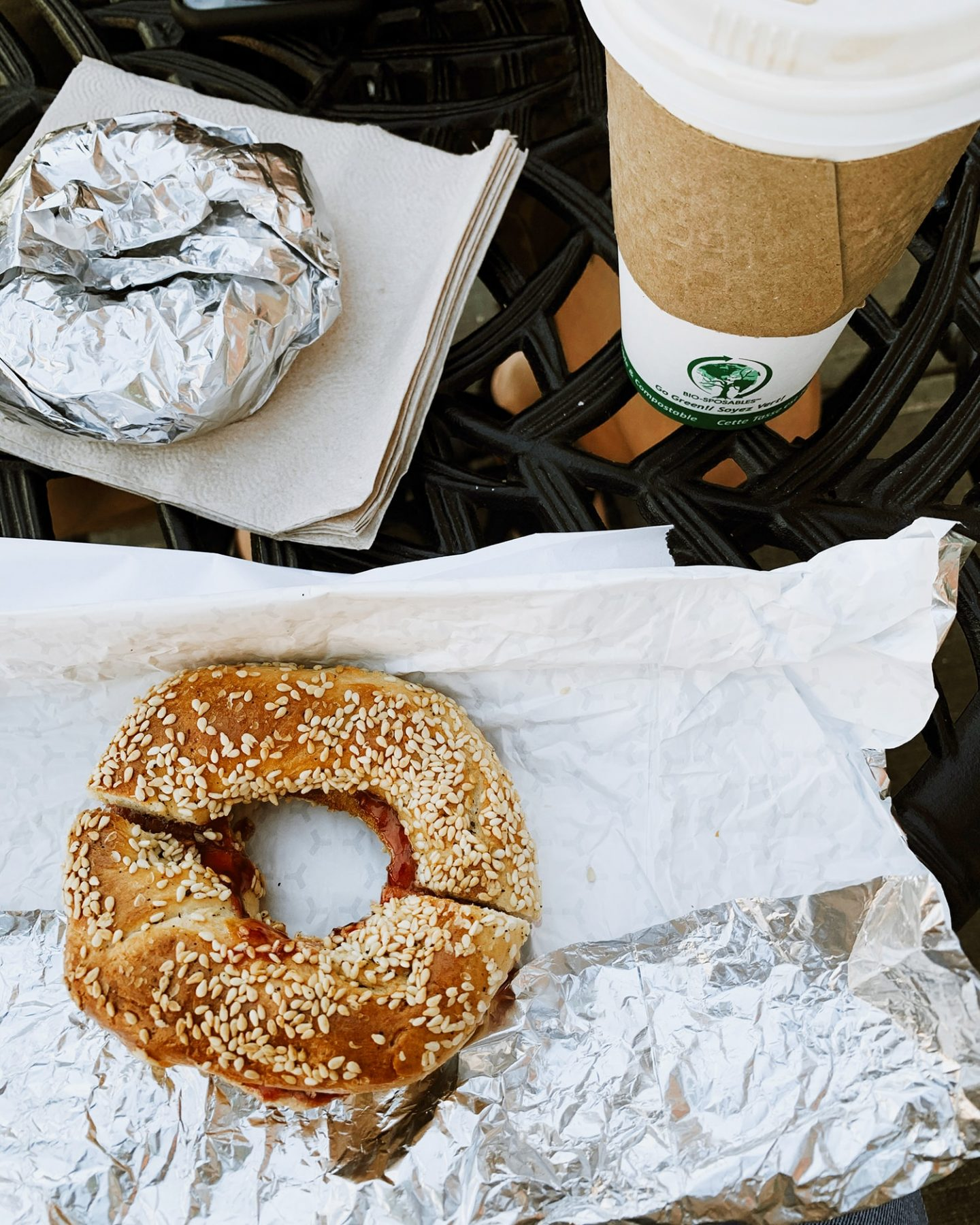 Montreal style bagels at The Bean Counter Café in Picton, Prince Edward County