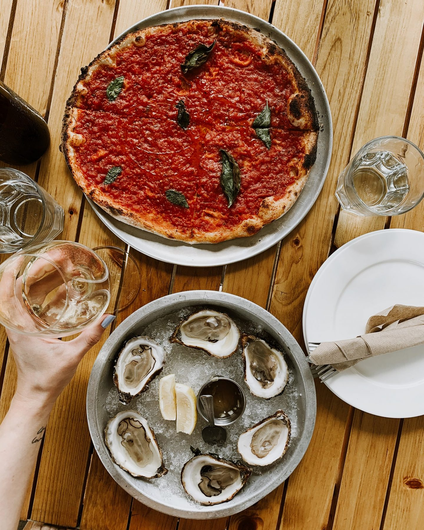 Norman Hardie Winery and Vineyard pizza and oysters in Wellington, Prince Edward County