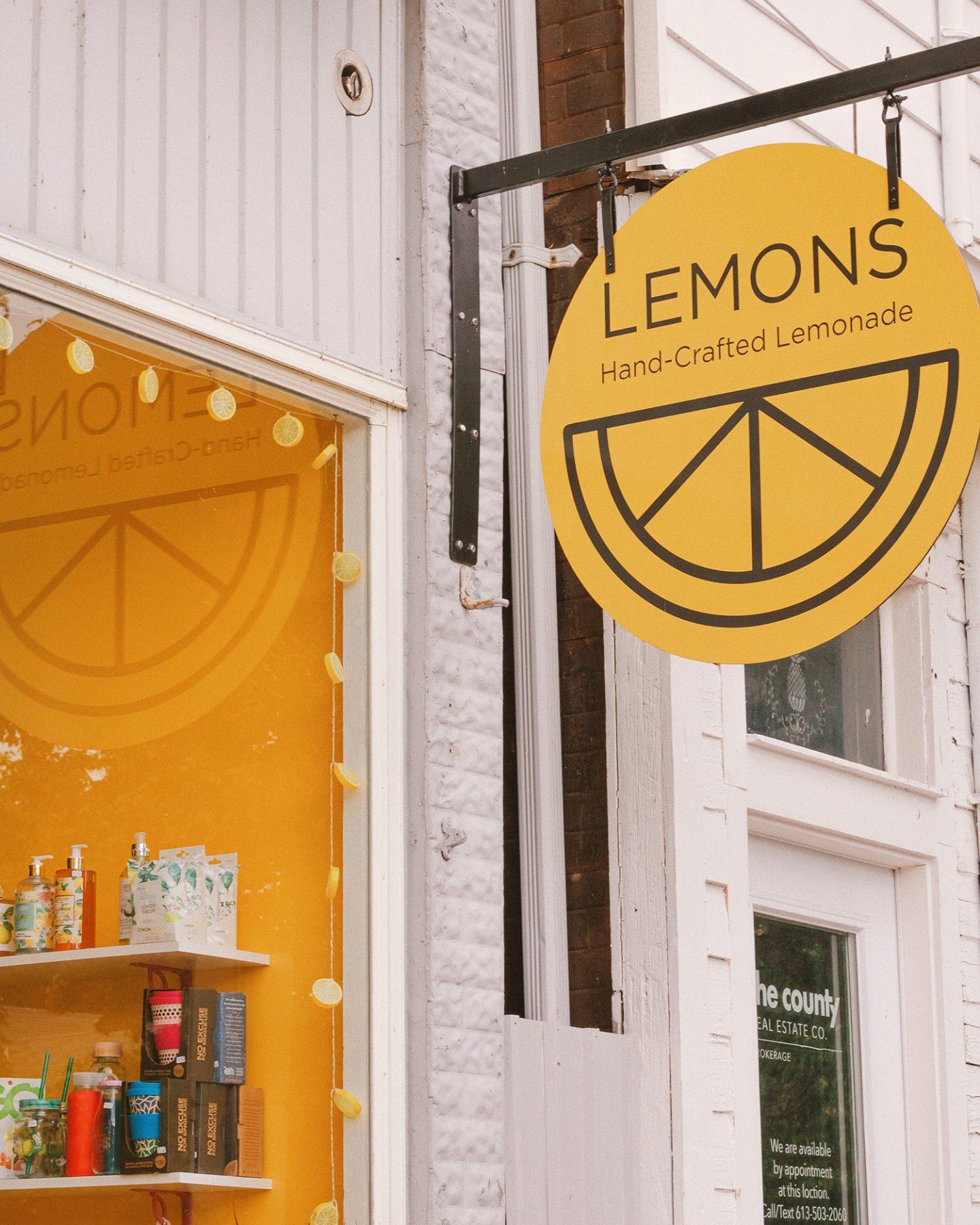 Lemons Lemonade shop Wellington, Prince Edward County