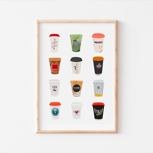 Snapture This coffee art primts in Toronto