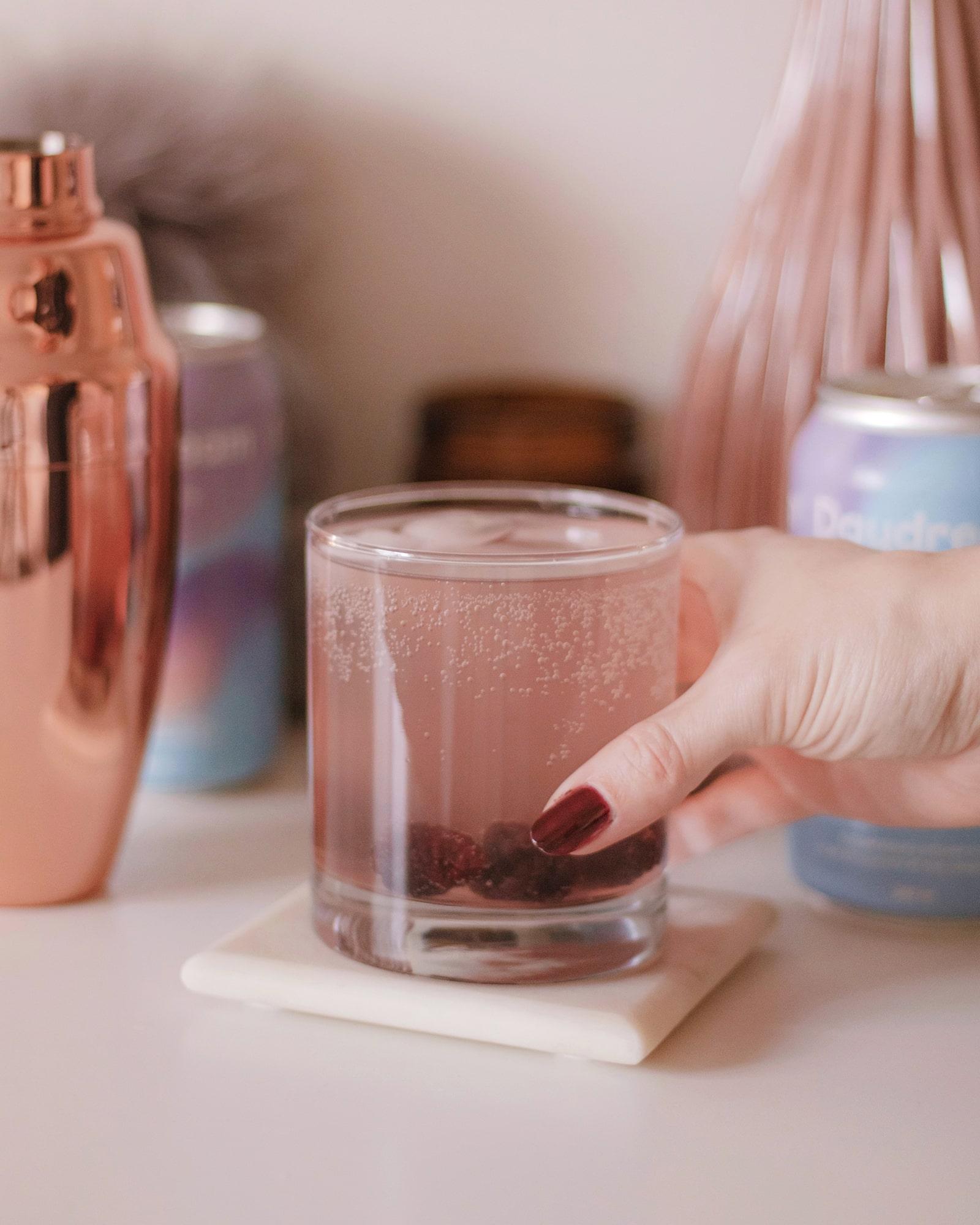 daydream drink recipe blackberry chai spritz