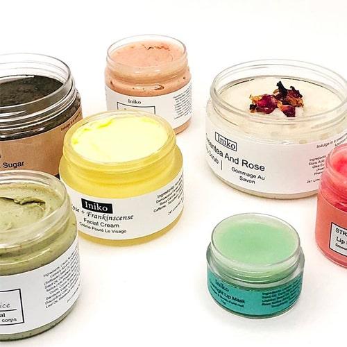 Iniko skincare products from Hamilton, Ontario