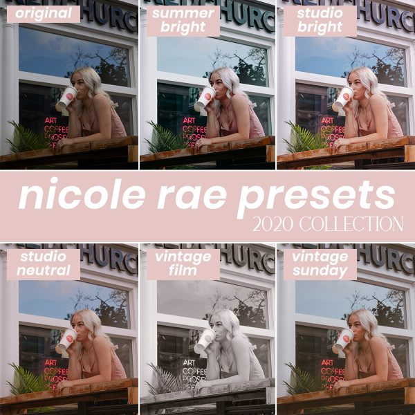 Nicole Rae lightroom presets 2020 collection for raw photos