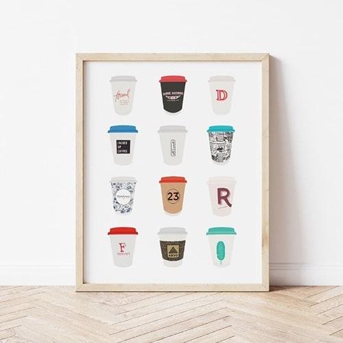 Snapture This coffee art prints in Toronto